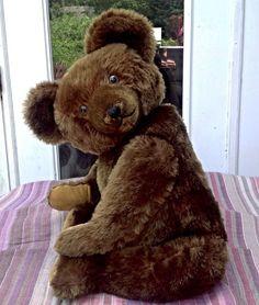"Rare HUGE Beautiful ORIGINAL American KNICKERBOCKER Mohair TEDDY BEAR 28"" NRSV! #KNICKERBOCKER"