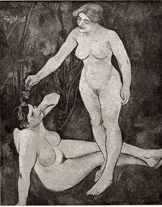 Suzanne Valadon « La Lune et Le soleil ou La brune et la Blonde, 1903 »
