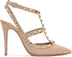 Valentino Pink Valentino Garavani Rockstud Cage Heels