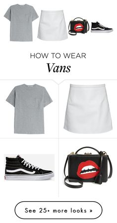 """""""Red lips"""" by malou-malou on Polyvore featuring T By Alexander Wang, Vans, Mark Cross and Christopher Kane"""
