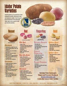 Potato varieties.