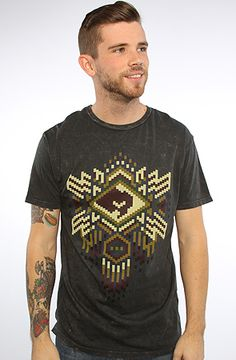 400441cd The Peyote Pattern Mineral Wash Tee in Dusty Black by Obey