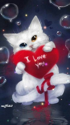 Valentines Day Quotes : QUOTATION – Image : Quotes Of the day – Description I Love You Animation Sharing is Caring – Don't forget to share this quote ! Love Images, Love Pictures, Gif Pictures, Love You Gif, My Love, I Love Cats, Cute Cats, I Love You Animation, Love Wallpaper