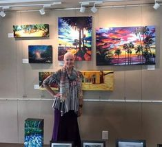 Bonnie Lambert is a very talented LA-based artist. She has purchased many of our prayer scarves - she feels they bring her good energy. Here she is wearing TRIBAL ENERGY at one of her recent art shows. I just love how she looks and I am a big fan of her art! Go, Bonnie, go! Good Energy, Prayers, Feels, Scarves, Fan, Summer Dresses, Artist, How To Wear, Women