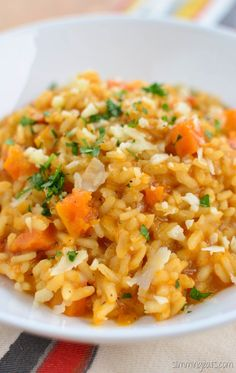 Slimming Eats Roasted Butternut Squash Risotto - gluten free, vegetarian…