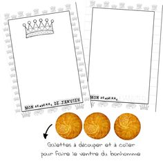 Le bonhomme du mois Gallette Des Rois, Petite Section, Grande Section, Collor, Rey, Wordpress, Education, School, Blog