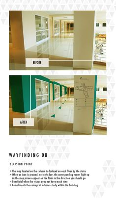 Wayfinding System by claire daisey, via Behance, arrows on floor.