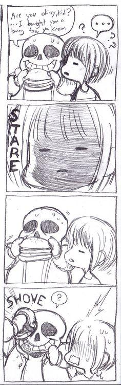 "rakugaki-otoko: "" I drew this short lil comic about Sans' mouth """