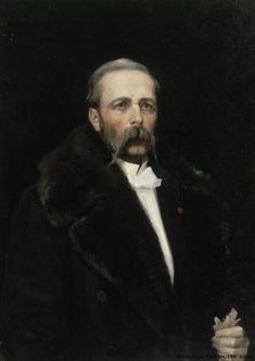 """Albert Edelfelt: """"Portrait of Carl Albert Edelfelt"""", 1883 - Edelfeltin isä oli ruotsal.arkkitehti Carl Albert Edelfelt (1818-1869)."""