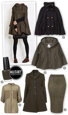 Elegant + edgy #militarychic