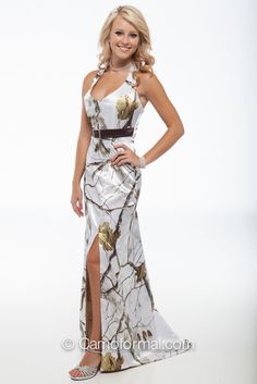 Join the party with the best little party dress,long party dresses and long sleeve party dresses and pay attention to camo party dresses bridesmaid gown halter neck satin white snow camouflage prom homecoming formal gown custom provided by Camo Wedding Dresses, Pretty Prom Dresses, Prom Dresses 2017, Grad Dresses, Cute Dresses, Bridal Dresses, Bridesmaid Dresses, Party Dresses, Wedding Gowns