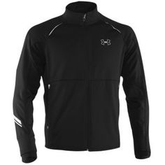 Under Armour Coldgear Storm Run Jacket - Men's - Running - Clothing - Black/Fuego/Reflective