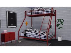 Wow check out this cool thing - what an innovative concept 4 Bunk Beds, Toddler Bunk Beds, Loft Beds, Los Sims 4 Mods, Sims 4 Game Mods, Sims 4 Bedroom, Bedroom Sets, Sims 4 Loft, Sims 4 Beds