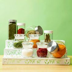 A spice stepper makes selecting seasonings simple.
