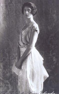 Princesse Jolanda de Savoie (1901-1986) fille du roi Victor-Emmanuel III et de la princesse Eléna de Monténégro