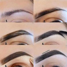 Make Up; Make Up Looks; Make Up Augen; Make Up Prom;Make Up Face; How To Trim Eyebrows, Filling In Eyebrows, Arched Eyebrows, High Arch Eyebrows, Eyebrow Filling, Eyebrow Makeup Tips, Skin Makeup, Beauty Makeup, Eyebrow Pencil