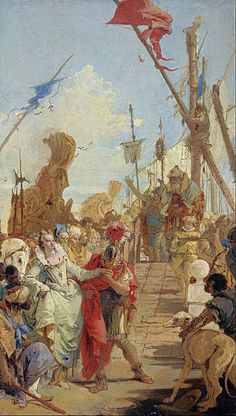 Giovanni Battista Tiepolo - The Meeting of Anthony and Cleopatra