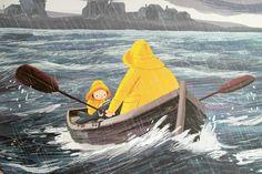 The Storm Whale - Benji Davies Children's Book Illustration, Book Illustrations, Mellow Yellow, Childrens Books, Whale, Book Art, Concept Art, Poster, Fine Art