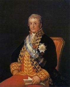 Retrato de Jose Antonio, Marques Caballero Kepmesa  - Francisco de Goya