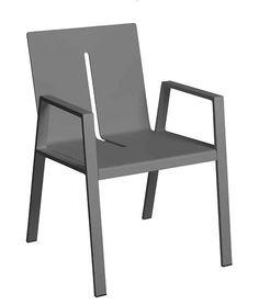 BOREK alu Panama chair anthracite