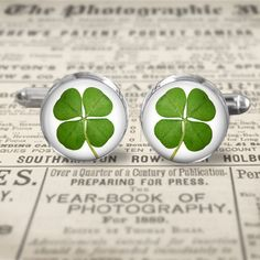 Cuff Links  Accessories  Cufflinks  Lucky by MaDGreenCreations