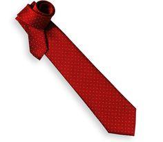 Cravate rouge à pois blanc - Washington II - Maison de la cravate