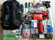 Bug out bag. Good idea to keep this in your house or car in case of an emergency. Especially during inclement weather.