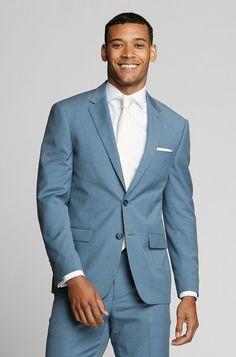 Light Blue Suit Jacket Light Blue Jacket - The Groomsman Suit Light Blue Suit Jacket, Mens Light Blue Suit, Wedding Men, Wedding Suits, Wedding Attire, Wedding Ideas, Wedding Venues, Wedding Inspiration, Tuxedo Wedding