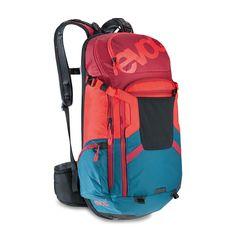 Evoc FR Trail Team Protector Hydration Pack Petrol/Red/Ruby, XL