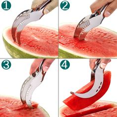20.8*2.6*2.8CM Stainless Steel Watermelon Slicer Cutter Knife Corer Fruit Vegetable Tools Kitchen Gadgets //Price: $7.95 & FREE Shipping //