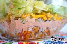 ...Pomysłowe i pyszne śniadania!: Warstwowa sałatka gyros z ryżem