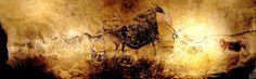 """LASCAUX - France - grotte ornée - environ 17000 ans - panneau de la vache - dans la galerie appelée """" la Nef """""""