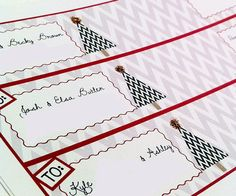 Free wrap-around address labels for Christmas - from PrintableWisdom