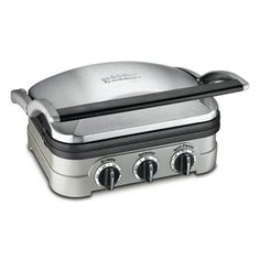 Cuisinart Griddler, gotta make sure it is the model with the dishwasher safe panels.
