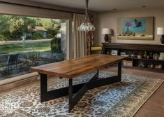 Reclaimed Oak Joist Dining Table, this reclaimed oak joist dining table is a statement piece of this home, with a custom steel base by Porter Iron Works. Outdoor Tables, Outdoor Decor, Custom Wood, Barn Wood, Wood Projects, Dining Table, Iron, Outdoor Furniture, Home Decor