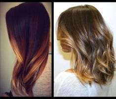 Ombre Highlights for Dark Hair | didn't want the normal blonde highlight because for me they were ...