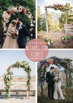 altar flores boda