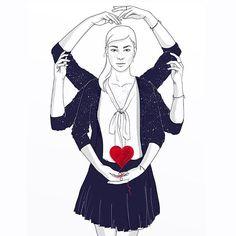"""""""Atrévete, soy joven, tengo mucho deseo que perder"""" ilustración de #loveisintheair❤️ Escrito por Vanesa Perez Sauquillo e ilustrado por mi! #cocodmor #nataliapereira #drawing #illustration #ilustracion #instalike #instaart #dibujo #digitalart #artofdrawing #artsurfer #art_collective #art_spotlight #art #arts #drawing #illustrationartists #artistoninstagram #creativepeople #artoftheday #pencilart #wacom #thecreativenet #fanart #artist_comunity #illustrationer #illustree #picame…"""