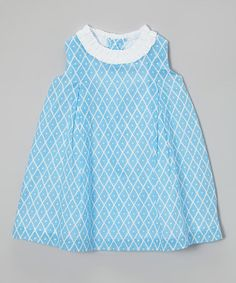 Look at this #zulilyfind! Blue Diamond Ruffle A-Line Dress - Infant & Toddler #zulilyfinds