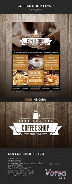 Coffee Shop flyer Template #design Download: http://graphicriver.net/item/coffee-shop-flyer/10116679?ref=ksioks
