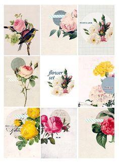 Imprimolandia: Etiquetas de flores