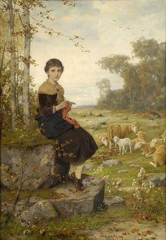The Athenaeum - The young shepherdess (Hubert Salentin - )