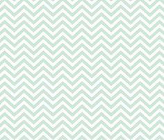 Mint Chevron fabric by mrshervi on Spoonflower - custom fabric