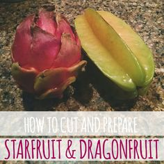 How to cut and prepare starfruit and dragonfruit! Healthy Snacks, Healthy Eating, Healthy Recipes, How To Cut Dragon Fruit, Fruit Recipes, Snack Recipes, Creative Snacks, 1200 Calorie Diet, Exotic Food