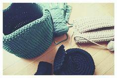 Bolso trapillo a crochet XL. Hecho a mano. Work in progress! Umi e