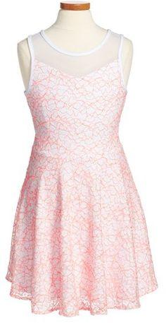 Sally Miller 'The Gia' Stretch Lace Tank Dress (Big Girls)