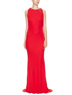 Jersey Knot Back Gown by Badgley Mischka Collection at Gilt