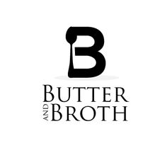 logo design for Butter and Broth by the logo boutique Best Logo Maker, Black And White Logos, Creative Logo, Letter Logo, Initials, Logo Design, Butter, Icons, Boutique