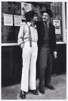 Mellon Tytell: William S Burroughs and Gregory Corso standing in front of the West End Bar, 1973 History Of Punk, Oral History, Lawrence Ferlinghetti, Allen Ginsberg, Downtown New York, Beat Generation, Patti Smith, Jack Kerouac, Writers And Poets