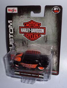 Maisto HARLEY-DAVIDSON CUSTOM - 1:64 Scale - VOLKSWAGEN BEETLE  #Maisto #VolkswagenBeetle